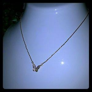 Kate spade butterfly short necklace